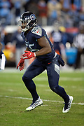 Tennessee Titans inside linebacker Jayon Brown (55) chases the action during the week 14 regular season NFL football game against the Jacksonville Jaguars on Thursday, Dec. 6, 2018 in Nashville, Tenn. The Titans won the game 30-9. (©Paul Anthony Spinelli)