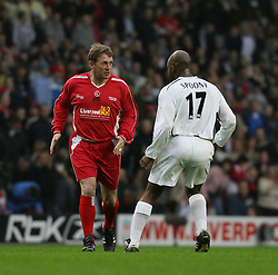 LIVERPOOL, ENGLAND - SUNDAY MARCH 27th 2005: Liverpool Legends' Kenny Dalglish and Celebrity XI's DJ Spoony during the Tsunami Soccer Aid match at Anfield. (Pic by David Rawcliffe/Propaganda)