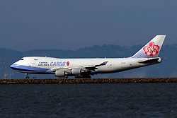 Boeing 747-409(F) (B-18718) operated by China Airlines for China Airlines Cargo taxiing, San Francisco International Airport (KSFO), San Francisco, California, United States of America