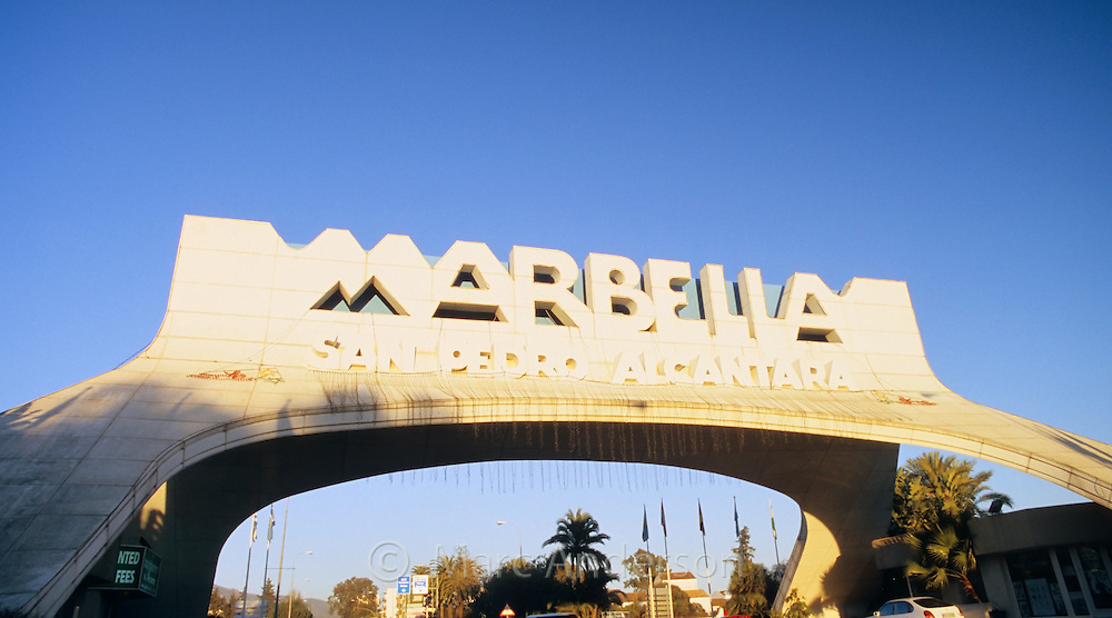 The famous Marbella arch, Costa del Sol, Spain