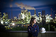 This is engineer Claudia Roldan at the ExxonMobil Baton Rouge Refinery.  Copyright 2013 Kathy Anderson