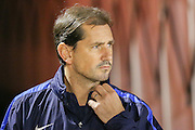 York City Manager Jackie McNamara  during the Johnstone's Paint Trophy match between Barnsley and York City at Oakwell, Barnsley, England on 10 November 2015. Photo by Simon Davies.