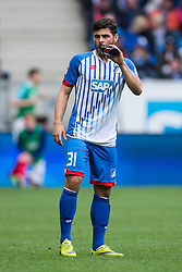 16.04.2016, Wirsol Rhein Neckar Arena, Sinsheim, GER, 1. FBL, TSG 1899 Hoffenheim vs Hertha BSC, 30. Runde, im Bild Kevin Volland (TSG 1899 Hoffenheim) // during the German Bundesliga 30th round match between TSG 1899 Hoffenheim and Hertha BSC at the Wirsol Rhein Neckar Arena in Sinsheim, Germany on 2016/04/16. EXPA Pictures © 2016, PhotoCredit: EXPA/ Eibner-Pressefoto/ Neis<br /> <br /> *****ATTENTION - OUT of GER*****