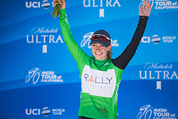 Emma White (USA) of Rally Cycling Team celebratres winning the points competition after Stage 3 of the Amgen Tour of California - a 70 km road race, starting and finishing in Sacramento on May 19, 2018, in California, United States. (Photo by Balint Hamvas/Velofocus.com)