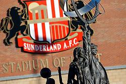 General View of statues outside the stadium - Photo mandatory by-line: Rogan Thomson/JMP - 07966 386802 - 04/01/2015 - SPORT - FOOTBALL - Sunderland, England - Stadium of Light - Sunderland v Leeds United - FA Cup Third Round Proper.