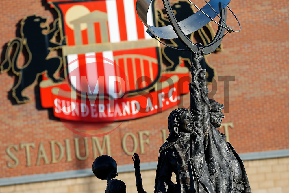 General View of statues outside the stadium - Photo mandatory by-line: Rogan Thomson/JMP - 07966 386802 - 04/01/2015 - SPORT - FOOTBALL - Sunderland, England - Stadium of Light - Sunderland v Leeds United - FA Cup Third Round Proper.