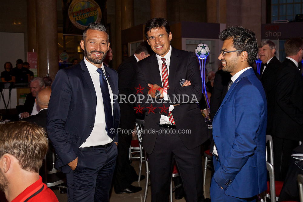 CARDIFF, WALES - Wednesday, August 31, 2016: Wales manager Chris Coleman during a gala dinner at the Cardiff Museum to launch the UEFA Champions League Finals 2017 to be held in Cardiff. (Pic by David Rawcliffe/Propaganda)
