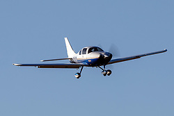 Lancair LC40-550FG Columbia (N6501M) on approach to Palo Alto Airport (KPAO), Palo Alto, California, United States of America