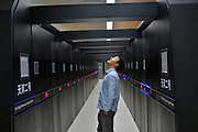 GUANGZHOU, CHINA - APRIL 10: (CHINA OUT) <br /> <br /> Supercomputer Tianhe-2 <br /> <br /> Journalist visit the Supercomputer Tianhe-2 at supercomputer center of the Sun Yat-Sen University on Speil 10, 2014 in Guangzhou, Guangdong Province of China. <br /> ©Exclusivepix