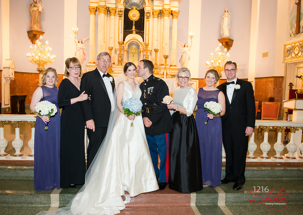 Matthew & Erin Wedding Sample Album | St. Mary's Church & Ursuline Convent | 1216 Studio Wedding Photography