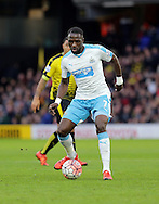 Newcastle's Moussa Sissoko during the The FA Cup Third Round match between Watford and Newcastle United at Vicarage Road, Watford, England on 9 January 2016. Photo by Dave Peters.
