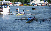 Henley on Thames, England, United Kingdom, 5th July 2019, Henley Royal Regatta,  Northeastern University A vs Northeastern University B, in Fridays Heats of the Temple Challenge Trophy, Henley Reach, [© Peter SPURRIER/Intersport Image]<br /> <br /> 09:06:46 1919 - 2019, Royal Henley Peace Regatta Centenary,