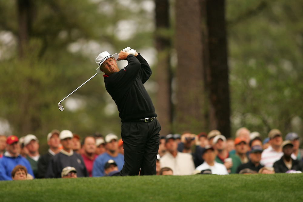 Kirk Triplett..2005 Masters Tournament.First Round.Augusta National GC.Augusta GA.Thursday, April 7 2005..photograph by Darren Carroll..04-07-05...