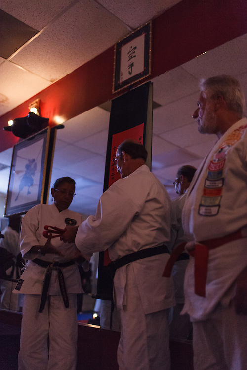 Nidai Soke Woodard ceremony at West Ashley Japan Karate Institute dojo near Charleston SC