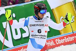 26.10.2019, Hannes Trinkl Weltcupstrecke, Hinterstoder, AUT, FIS Weltcup Ski Alpin, Alpine Kombination, Herren, Slalom, im Bild Mauro Caviezel (SUI), zweiter Platz // Mauro Caviezel of Switzerland second Place reacts after his Slalom run of men's Alpine combined of FIS ski alpine world cup at the Hannes Trinkl Weltcupstrecke in Hinterstoder, Austria on 2019/10/26. EXPA Pictures © 2020, PhotoCredit: EXPA/ Erich Spiess