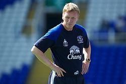 BIRMINGHAM, ENGLAND - Saturday, July 30, 2011: Everton's manager David Moyes during a preseason friendly match against Birmingham City at St Andrews. (Photo by David Rawcliffe/Propaganda)