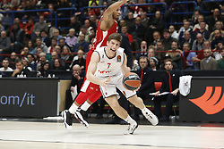 November 17, 2017 - Milan, Milan, Italy - Aleksej Nikolic (#7 Brose Bamberg) drives to the basket during a game of Turkish Airlines EuroLeague basketball between  AX Armani Exchange Milan vs Brose Bamberg at Mediolanum Forum, on November 17, 2017 in Milan, Italy. (Credit Image: © Roberto Finizio/NurPhoto via ZUMA Press)