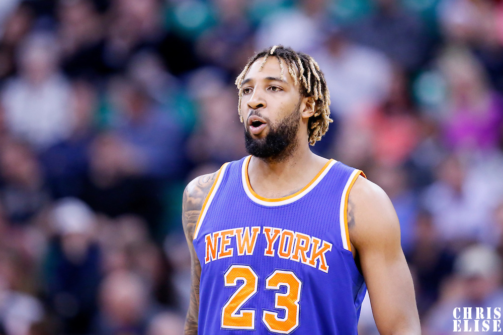 09 December 2015: New York Knicks forward Derrick Williams (23) reacts during the Utah Jazz 106-85 victory over the New York Knicks, at the Vivint Smart Home Arena, Salt Lake City, Utah, USA.