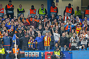 Valencia football fans, football supporters during the Champions League match between Chelsea and Valencia CF at Stamford Bridge, London, England on 17 September 2019.