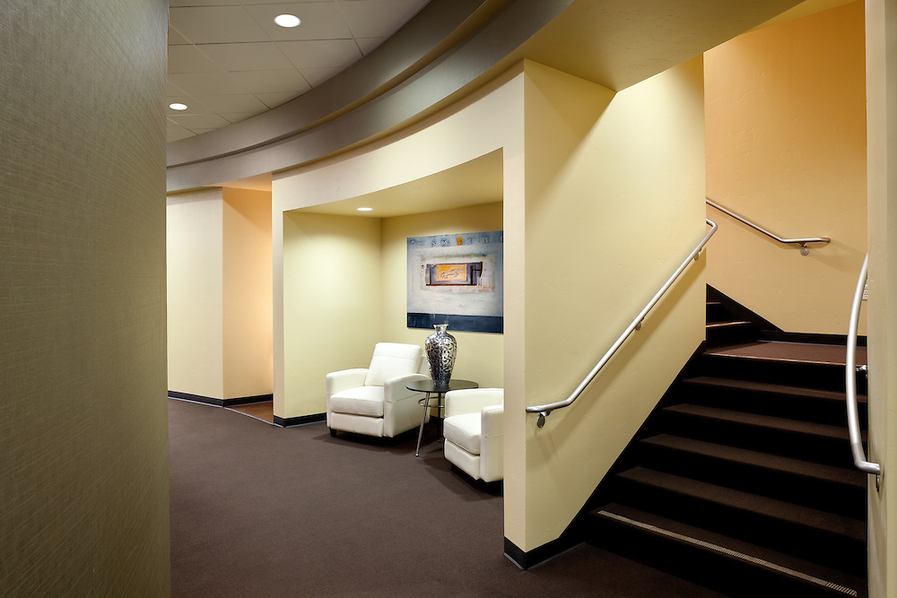Downstairs Corridor in CPF Office infrastructure- architectural and Interior Photography example of Chip Allen's work.