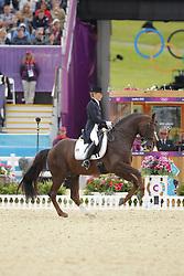 Langehanenberg, Helen, Damon Hill<br /> London - Olympische Spiele 2012<br /> <br /> Grand Prix Special, Teamwertung<br /> © www.sportfotos-lafrentz.de/Stefan Lafrentz