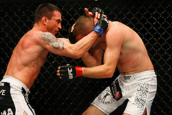 April 19, 2008; Montreal, Quebec, CAN;  Kalib Starnes and Nate Quarry battle during their middleweight bout at the Bell Centre in Montreal, Canda at UFC 83.  Quarry won via lopsided unanimous 3 round decision.