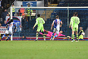Wolverhampton Wanderers Goalkeeper, Carl Ikeme (1) saves during the EFL Sky Bet Championship match between Blackburn Rovers and Wolverhampton Wanderers at Ewood Park, Blackburn, England on 29 October 2016. Photo by Mark Pollitt.