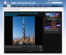 NBC website; Burj Khalifa tower in Dubai