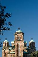 St Mark's Church in Tasmajdan Park, Belgrade, Serbia