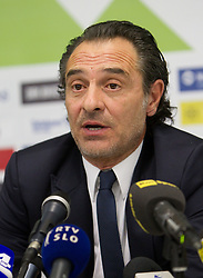 Head coach Cesare Prandelli during press conference of National team of Italy 1 day before EURO 2012 Qualifications match against Italy, on March 24, 2011, SRC Stozice, Ljubljana, Slovenia. (Photo by Vid Ponikvar / Sportida)