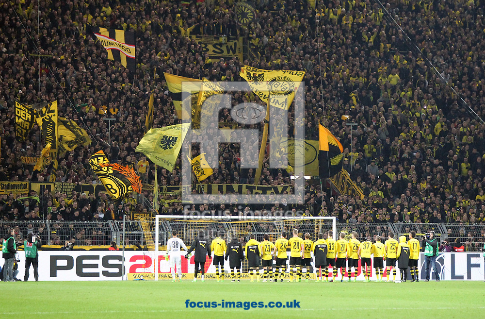 Fans of Borussia Dortmund and their team during the Bundesliga match at Signal Iduna Park, Dortmund<br /> Picture by EXPA Pictures/Focus Images Ltd 07814482222<br /> 17/03/2017<br /> *** UK &amp; IRELAND ONLY ***<br /> EXPA-EIB-170318-0031.jpg