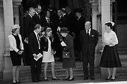 THE COUNTESS OF SNOWDON; THE EARL OF SNOWDON; LADY MARGARITA ARMSTRONG-JONES; QUEEN ELIZABETH 11; PRINCE PHILIP ; LADY SARAH CHATTO, Service of thanksgiving for  Lord Snowdon, St. Margaret's Westminster. London. 7 April 2017