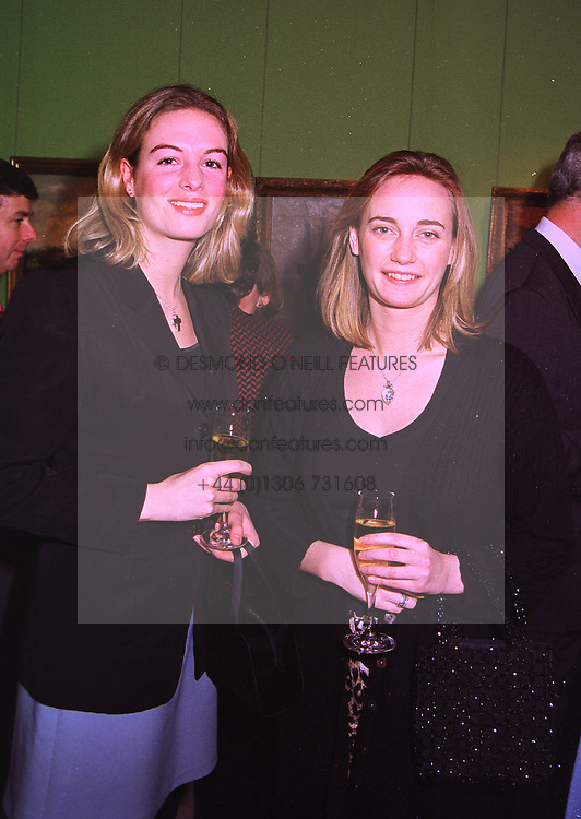 Left to right, LADY IONA PEEL and MISS CLEMENTINE HAMBRO, at an exhibition in London on 8th January 1998.MEL 34