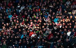 04.03.2018, Red Bull Arena, Salzburg, AUT, 1. FBL, FC Red Bull Salzburg vs SK Rapid Wien, 25. Runde, im Bild Zuschauer auf der Tribüne // during Austrian Football Bundesliga 25th round Match between FC Red Bull Salzburg and SK Rapid Wien at the Red Bull Arena, Salzburg, Austria on 2018/03/04. EXPA Pictures © 2018, PhotoCredit: EXPA/ JFK