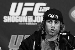 March 16, 2011; New York, NY; USA; Urijah Faber at the final press conference for UFC 128.  The card will take place on Saturday March 19, 2011, at the Prudential Center in Newark, NJ.