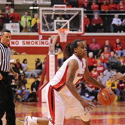 Jan 31, 2009; Piscataway, NJ, USA; Rutgers guard Epiphanny Prince (10) makes a move around South Florida guard Janae Stokes (not pictured) during the first half of South Florida's 59-56 victory over Rutgers in NCAA women's college basketball at the Louis Brown Athletic Center