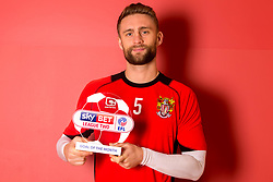 Fraser Franks of Stevenage receives the Sky Bet League Two Goal of the Month award for December - Mandatory by-line: Robbie Stephenson/JMP - 12/01/2017 - FOOTBALL - Stevenage FC Training Ground - Stevenage, England - Sky Bet League Two Goal of the Month