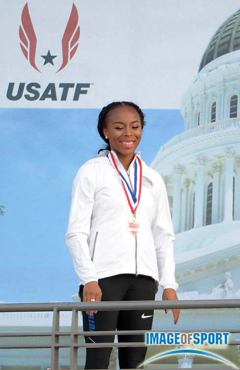 Jun 26, 2014; Sacramento, CA, USA; Ciarra Brewer of Florida finishes second in the womens triple jump at 44-6 1/4 (13.57) in the 2014 USA Championships at Hornet Stadium.