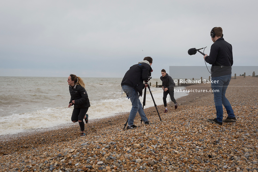 Film students on location on 30th April 2017, at Winchelsea, England