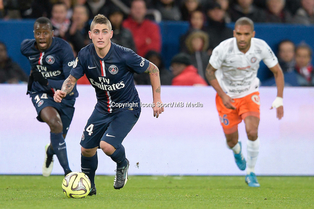 Marco VERRATTI - 20.12.2014 - Paris Saint Germain / Montpellier - 17eme journee de Ligue 1 -<br />