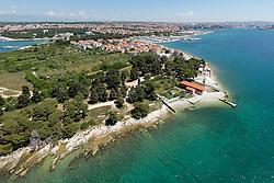 21.06.2015, Zadar, CRO, Puntamika am westlichen Teil der Stadt Zadar, wurde bereits seit der Jungsteinzeit bewohnt. Es war schon immer ein wichtiger strategischer Ort an der Küste und über die Jahrhunderte überwachte den Zugang zum Hafen von Zadar. Deswegen wurde hier auch ein Leuchtturm errichtet, im Bild Puntamika, an area with quite some history dating back to Neolithic settlements. It was an important defensive point of the town Zadar because geographically it guards the shipping entrance to the old town - that's why the city lighthouse is here. EXPA Pictures © 2015, PhotoCredit: EXPA/ Pixsell/ Dino Stanin<br /> <br /> *****ATTENTION - for AUT, SLO, SUI, SWE, ITA, FRA only*****