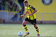 Joe Leesley of Harrogate Town (11) in action during the Vanarama National League match between Harrogate Town and Solihull Moors at Wetherby Road, Harrogate, United Kingdom on 25 August 2018.