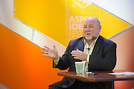 """Thad Allen of Booz Allen Hamilton moderates the """"Malaysia 370 and Other Tragedies: Rescue, Recovery and Finding Answers"""" panel at the 2014 Aspen Ideas Festival in Aspen, CO. ©Brett Wilhelm"""