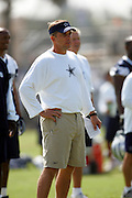The coaching staff and the Dallas Cowboys work out at their summer training camp in Oxnard, CA on 08/03/2004. ©Paul Anthony Spinelli