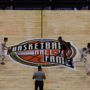 Federico Mussini, (left), St. John's, brings the ball up court  during the St. John's vs South Carolina Men's College Basketball game in the Hall of Fame Shootout Tournament at Mohegan Sun Arena, Uncasville, Connecticut, USA. 22nd December 2015. Photo Tim Clayton