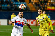Jeremy Morel of Olympique Lyonnais and Enes Unal of Villarreal during the UEFA Europa League, round of 32, 2nd leg football match between Villarreal CF and Olympique Lyonnais on february 22, 2018 at Ceramica Stadium in Vila-real, Spain - Photo Oscar J Barroso / Spain ProSportsImages / DPPI / ProSportsImages / DPPI
