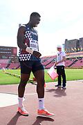 Fred Moudani-Likibi (FRA) competes in Shot Put Men during the IAAF World U20 Championships 2018 at Tampere in Finland, Day 1, on July 10, 2018 - Photo Julien Crosnier / KMSP / ProSportsImages / DPPI