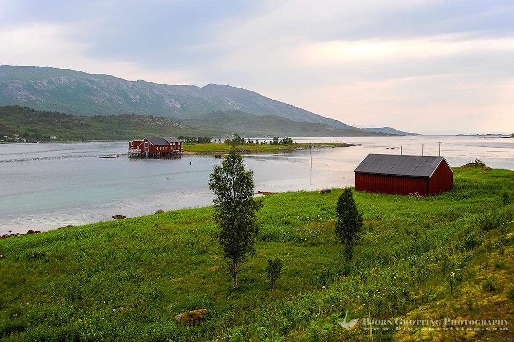 Norway, Lofoten. Kanstadfjorden, close to the Lofoten islands.