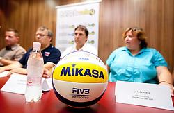 Mikasa ball at press conference of Slovenian Beach tour 2011, on June 21, 2011, in Hala Tivoli, Ljubljana, Slovenia. (Photo by Vid Ponikvar / Sportida)
