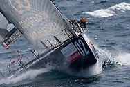 CXG Corporacion Caixagalicia sailing upwind during Race 1 of the AUDI Medcup in Marseille